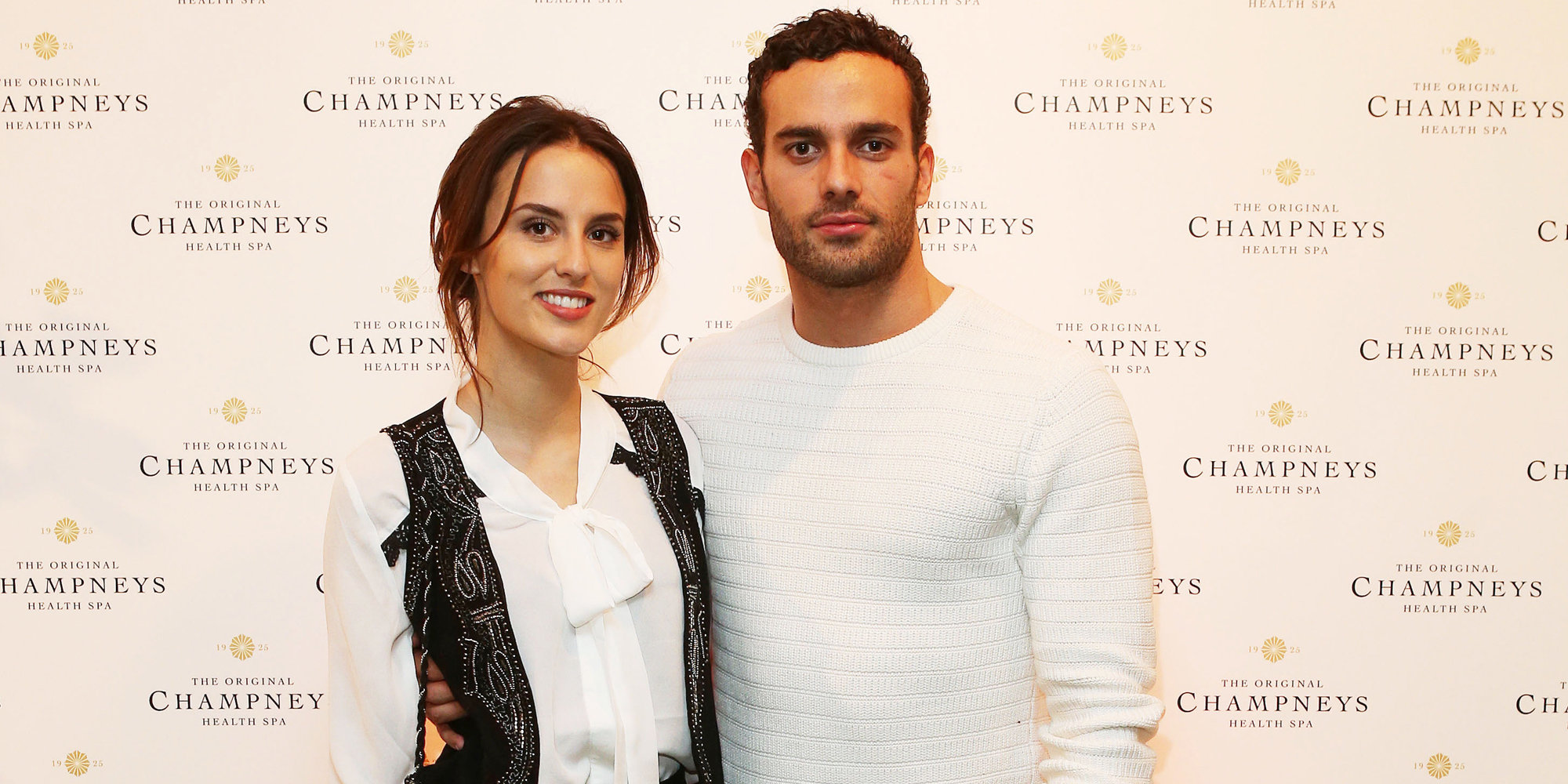 Lucy Watson and James Dunmore at Champneys product re-launch event